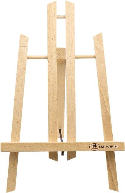 NUOBESTY caballete de madera mesa de caballete pintura pantalla ...