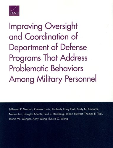 Improving Oversight and Coordination of Department of Defense Programs That Address Problematic Behaviors Among Military Personnel: Final Report