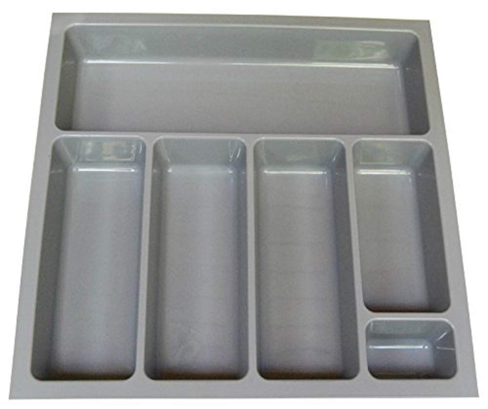 High Quality Cutlery Tray To Fit Most 50cm / 500mm Drawers. Heavy Duty Grey Plastic 420mm Wide x 422mm Deep x 57mm High GT1/500 Blum