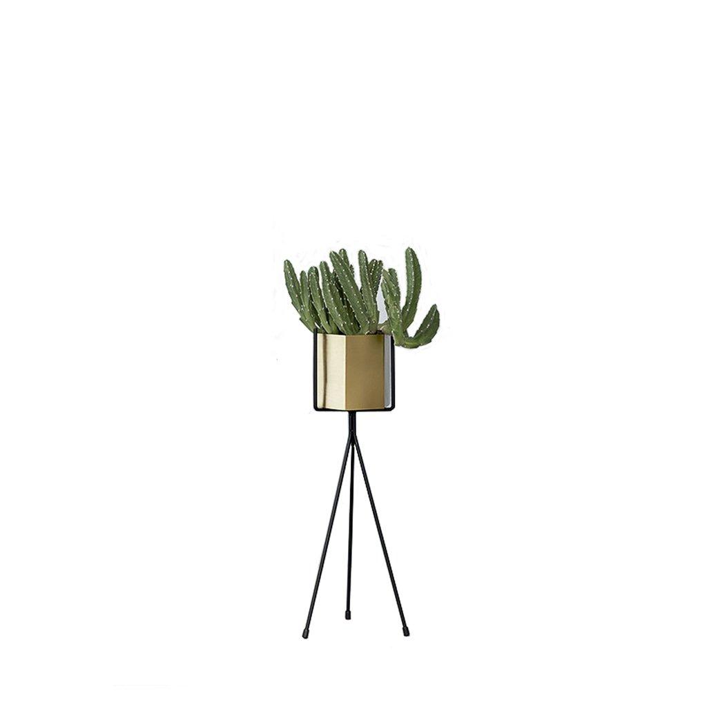 KLEDDP Supporto da Fiore in Ferro Metallo Minimalista Creativo, Supporto per Vaso da Fiori per Balcone, espositore, Nero Stand di Fiori (Dimensioni   H65CM)