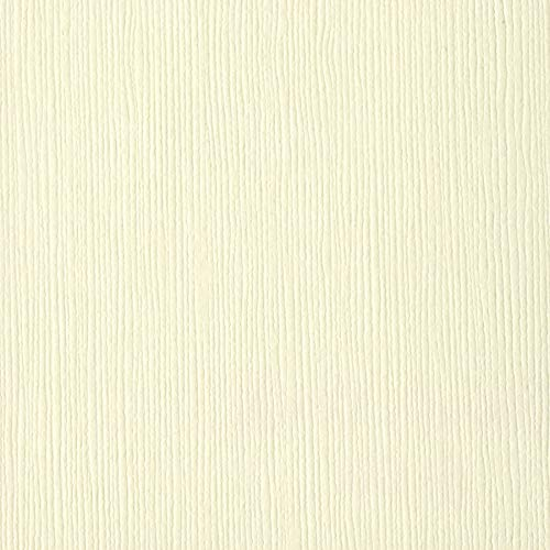 Bazzill Fourz Cardstock French Vanilla/Grass Cloth 12 x 12 (6 Pack)