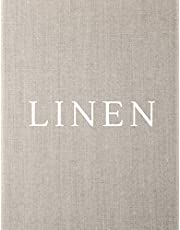 Linen: A Decorative Book │ Perfect for Stacking on Coffee Tables & Bookshelves │ Customized Interior Design & Home Decor