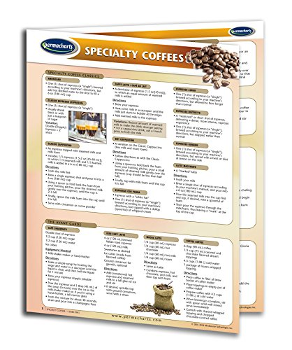 Liqueur Drink Recipes - Speciality Coffees Guide - Food and Drink Quick Reference Guide by Permacharts