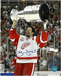 Brendan Shanahan Autographed Detroit Red Wings 8x10 Photo #1 - 2002 Stanley Cup