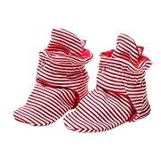 Zutano Unixex Baby Candy Stripe Bootie, Red, 6 Months