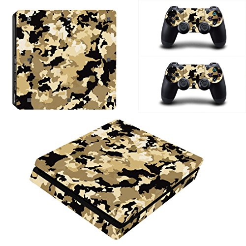 Vanknight PS4 Slim Console Dualshock Controllers Skin Set Vinyl Decal Sticker for Playstation 4 Slim Console ()