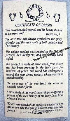 Olive Wood Mezuzah with Scroll by YourHolyLandStore by YourHolyLandStore (Image #3)