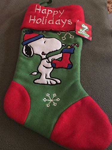 Peanuts Snoopy Christmas Stocking - Happy Holidays