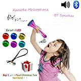 Kids Karaoke Microphone Wireless Singing Machine Bluetooth Cool Christmas Speaker with Princess Design, Creative Electronics Toys Birthday Gifts for Sister Girls Teenagers Ideal for Disney Songs