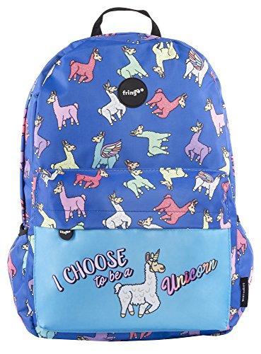 08026cce1600 FRINGOO® Girls Boys School Backpack Waterproof Travel Bag Fits Laptop 17   ( Unicorn WiFi)