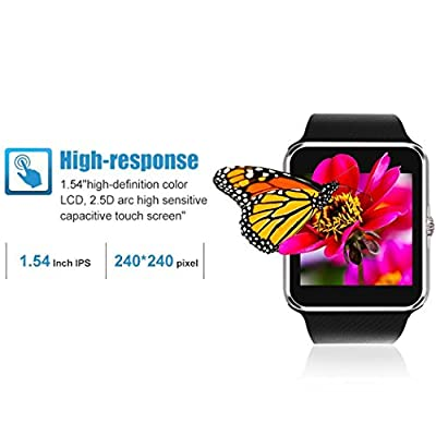 Fam-health Water Resistant Smart Watch Anti Lost and Handfree for Android 4.2 or Above and iPhone