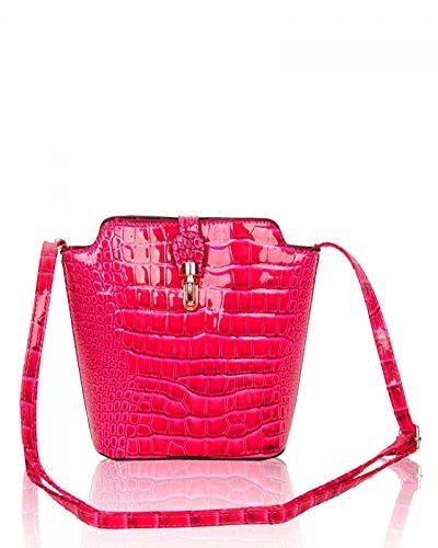 Chic Bag Skin 160402 Body Crocodile Small Size Handbags LeahWard® C Body Women's Ladies Across Plain Cross Faux orchid xnA0HOIqO