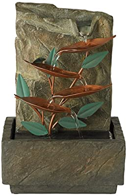 "Blue Bird of Paradise 9 1/4"" High Tabletop Fountain"