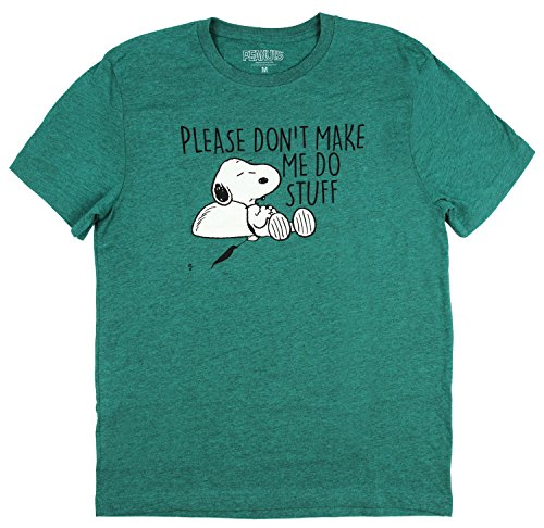 Peanuts Please Don't Make Me Do Stuff Men's Tee - S to XL