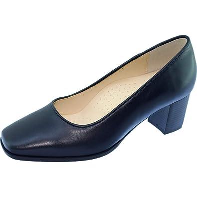 Escarpins d Hotesses Barbade Alarm Free Escarpin Grande Largeur Talon  Stable Chaussures Confort Uniforme Femme Cuir Bleu Marine  Amazon.fr   Chaussures et ... 96b7c8c305c9