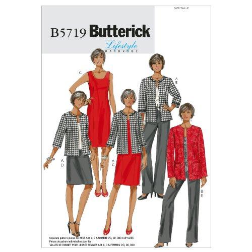 Butterick Patterns B5719 Misses'/Women's Jacket, Dress, Skirt and Pants, Size B5 (8-10-12-14-16)