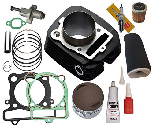 YAMAHA BIG BEAR 350 CYLINDER PISTON GASKET OIL AIR FILTER TOP END KIT SET 2x4 4x4 1987 1988 1989 1990 1991 1992 1993 1994 1995 - Bear Big Piston