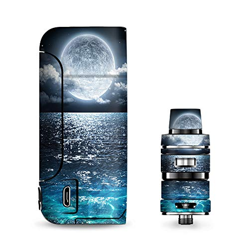 Armour Decals - IT'S A SKIN Decal Vinyl Wrap for Vaporesso Armour Pro Cascade Tank Vape Sticker Sleeve Cover/Giant Moon Over The Ocean