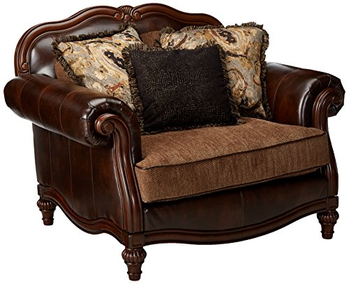 Ashley Furniture Signature Design - Winnsboro Chair & A Half - Traditional - Vintage Brown