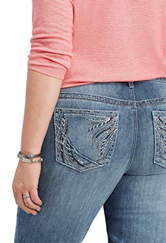 Pocket Back Embellished - maurices Women's Slim Boot Jean - Plus Size Embellished Back Pocket