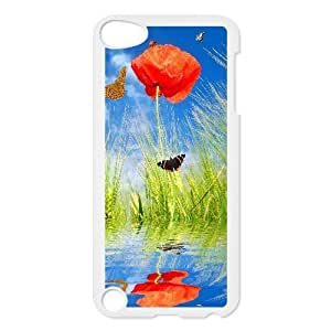 For Iphone 6 Phone Case Cover Spring Poppy Flowers And Butterflies Hard Shell Back White For Iphone 6 Phone Case Cover 300843