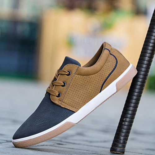 scarpe Shoes Inverno Sneakers Stringate Inverno Zycshang Fashion Scarpe Da Blu Top Casual zipper Uomo High qxxt40Xg