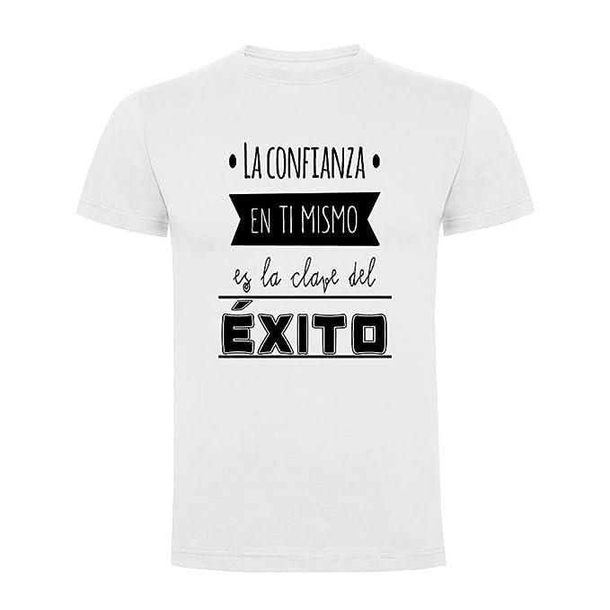 Docliick Camiseta Original Manga Corta con Frases motivadoras **LA Confianza EN TÍ Mismo ES