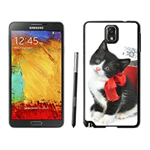 Niche market Phone Case Christmas Cat Black Samsung Galaxy Note 3 Case 27