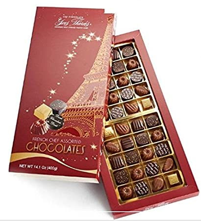 Yves Thuries French Chef Assorted Chocolate Gift Box 40 Pieces Imported From France