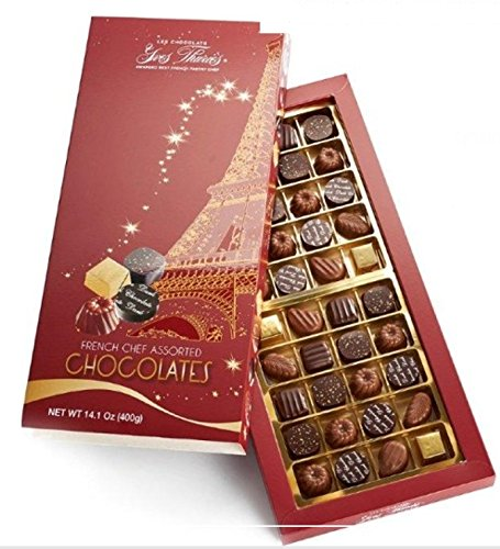 Yves Thuries French Chef Assorted Chocolate Gift Box - 40 Pieces Imported from France