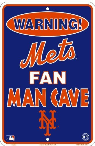 (New York Mets Fan Man Cave Sign 8 X 12)