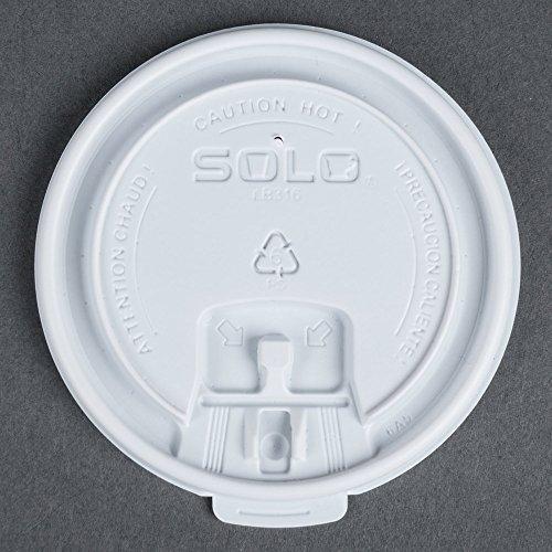 - Dart Solo LB3161 12, 16, and 20 oz. White Plastic Tab Lid 100/Pack