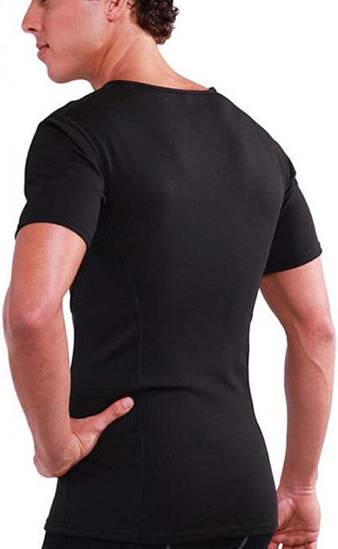 Magliette Sauna Uomo Neoprene T Shirt Compressione Sportiva per Sudorazione Grasso Bruciante Ginnastica Dimagrante Yoga Fitness