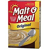 Malt-O Meal Original Fortified Hot Wheat Cereal (Pack of 2) 36 oz Boxes
