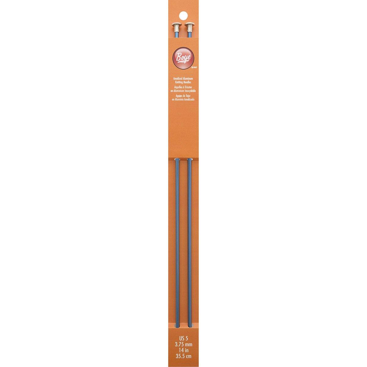 Single Point Aluminum Knitting Needles 14'-Size 5 Boye 3216328005
