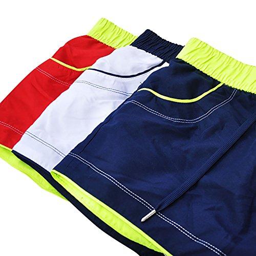 Boxer Baño Bolsillos Cordón Cortos Traje Playa Hombre Bañador amp; Piscina Dolamen De Dentro Ajustable Natación Para Rojo Pantalones Hombre Con t8nqU