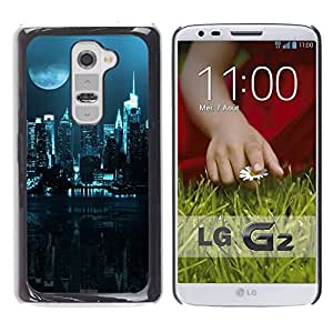 LASTONE PHONE CASE / Slim Protector Hard Shell Cover Case for LG G2 D800 D802 D802TA D803 VS980 LS980 / City Nighttime