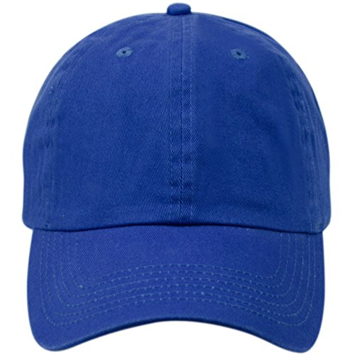 Washed Low Profile Cotton and Denim Baseball Cap (ROYAL),One Size