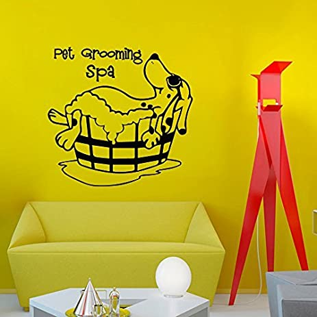 Amazon.com: Wall Decal Decor Pet Grooming Spa Wall Decal Quote ...