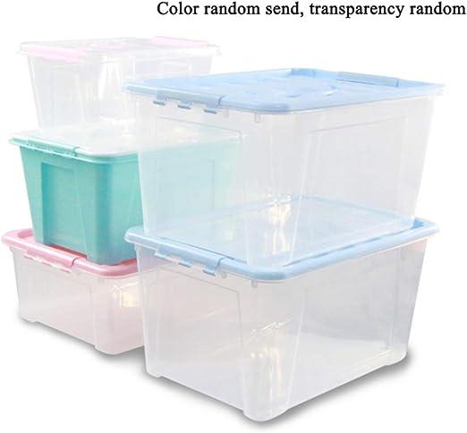GYJWSBAW Cajas de Almacenamiento de plástico Contenedores Caja de ...