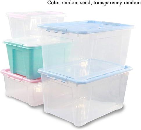 GYJWSBAW Cajas de Almacenamiento de plástico Contenedores Caja de contenedores Estuches de organización Organizador de Oficina de lavandería para Libros Misceláneas para Almacenamiento: Amazon.es: Hogar