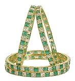 MUCHMORE Bollywood Fantastic Style Gold Tone Diamond Swarovski Elements Indian Bangles Traditional Jewelry (2.4)