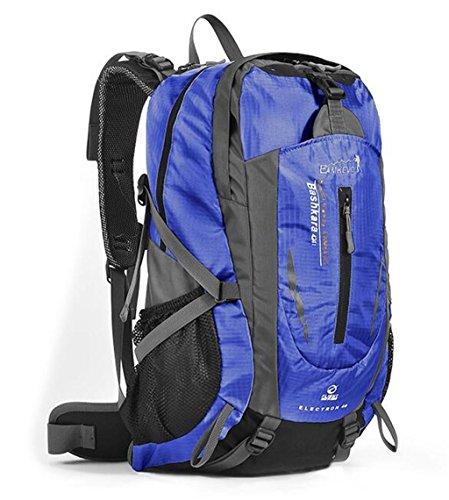 Outdoor-Klettern Tasche Männer und Frauen Rucksack Wandern Beutel große Kapazität 40L Rucksack ( farbe : Blau , größe : 40L )