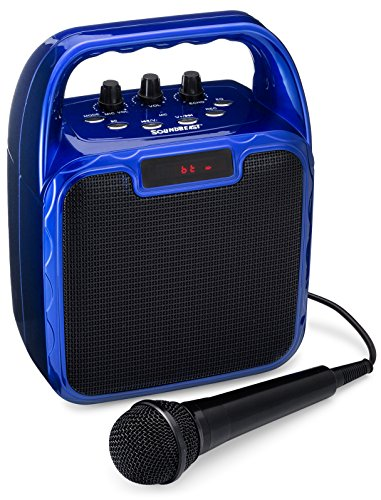 SoundBeast Pegasus Karaoke Machine & Portable PA Speaker System For Kids & Adults - With Microphone & Bluetooth (Blue) by SoundBeast