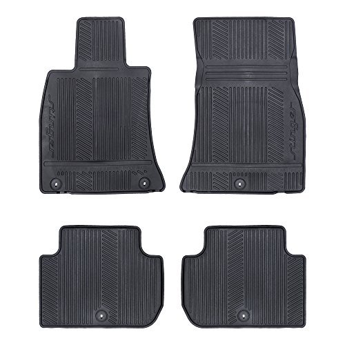 OEM NEW Front & Rear All Weather Rubber Floor Mats w/Stinger Logo J5F13-AC000