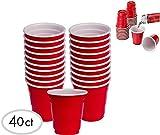 JFullerton Mini Solo Cup 40 2oz Mini Red Plastic Shot Glasses Drinkware Redneck Party Cups