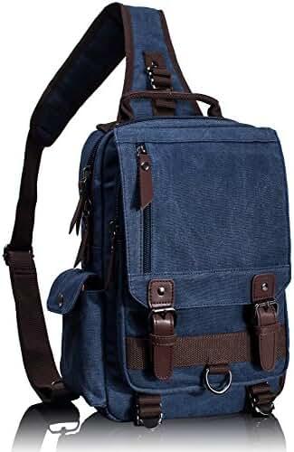 Leaper Cross Body Messenger Bag Shoulder Backpack Travel Rucksack Sling Bag