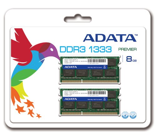 ADATA Premier DDR3 1333MHz 8GB (4GBx2) Memory Modules (AD3S1333C4G9-2) by ADATA