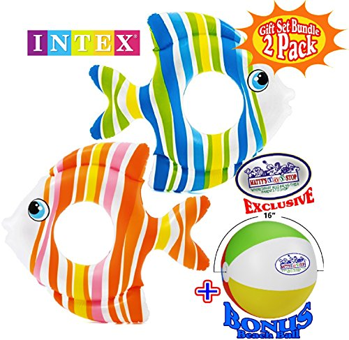 Matty's Toy Stop Inflatable Tropical Fish Swim Rings (32.5