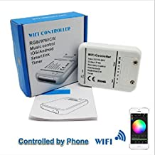Langboss DC12V-24V Wifi LED Controller RGB/RGBW/RGBWW 16 Million Colors Music and Timer Mode Control By IOS/Android Smartphone